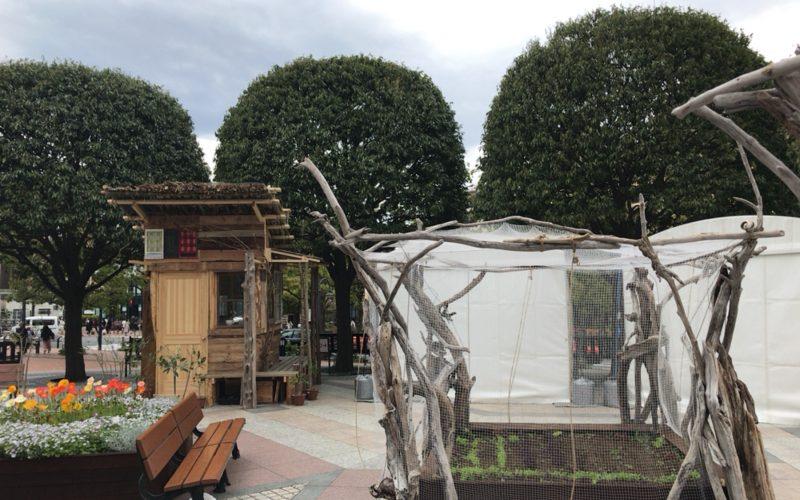 恵比寿アーバンガーデンフェスティバルで時計広場で行われていたサスティナブルキャビンプロジェクト