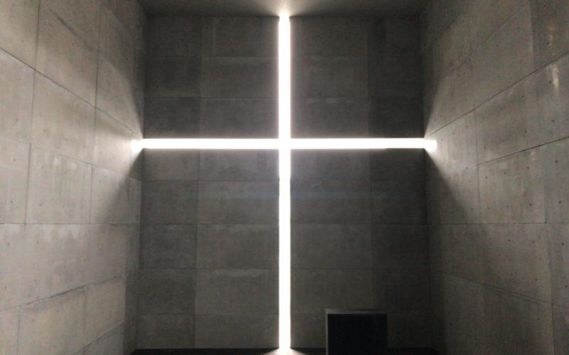 「安藤忠雄展ー挑戦ー」の屋外展示場に展示していた光の教会のインスタレーション