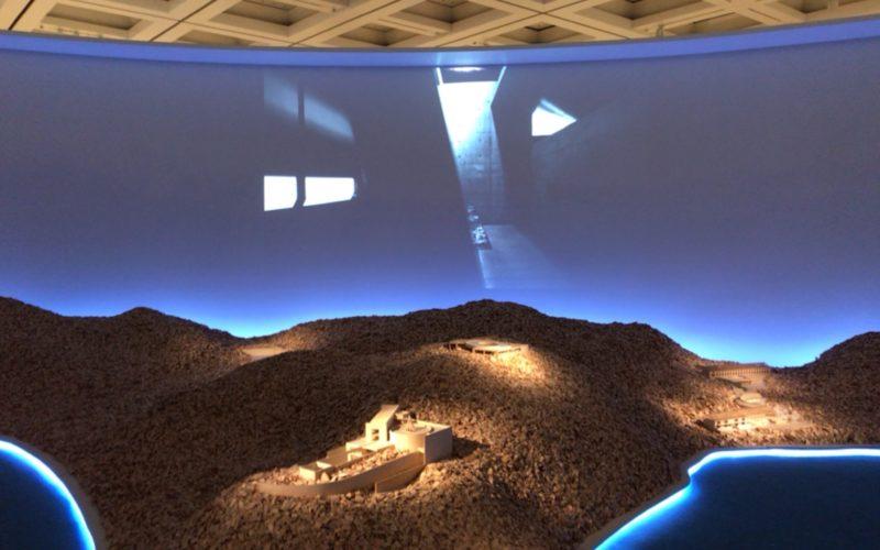 「安藤忠雄展ー挑戦ー」に展示していた直島のジオラマと映像