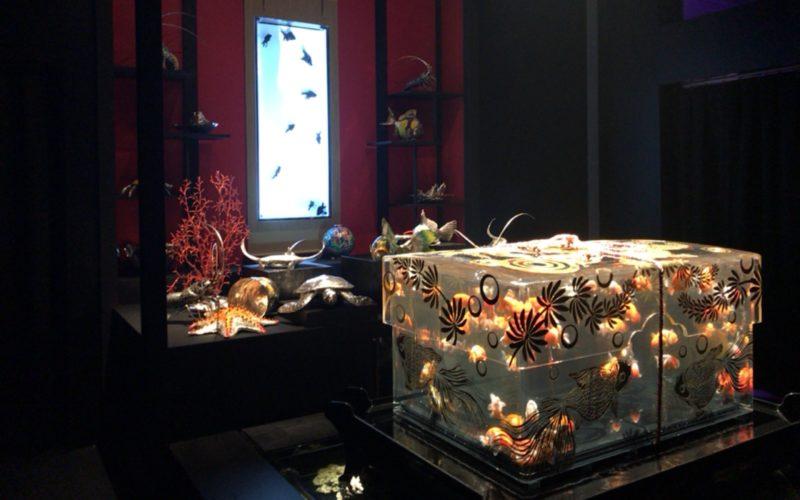 コレド室町1の日本橋三井ホールで開催されたアートアクアリウム 2017に展示されていたタマテリウム