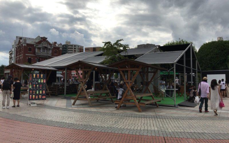 恵比寿ガーデンプレイスの時計広場に期間限定でオープンしていた「ブック&フィルムバー」