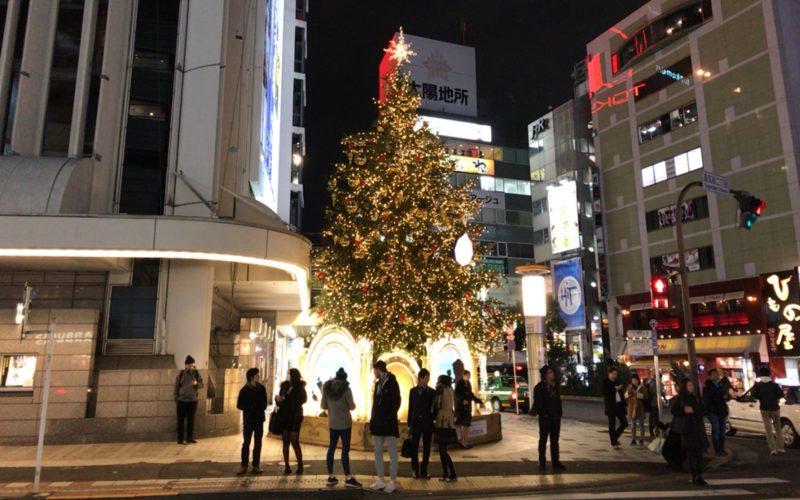 東急百貨店本店の1F正面口に設置していたクリスマスツリー