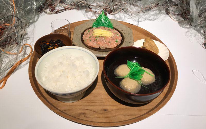 d design travel CHIBA EXHIBITIONに展示していた千葉定食のサンプル
