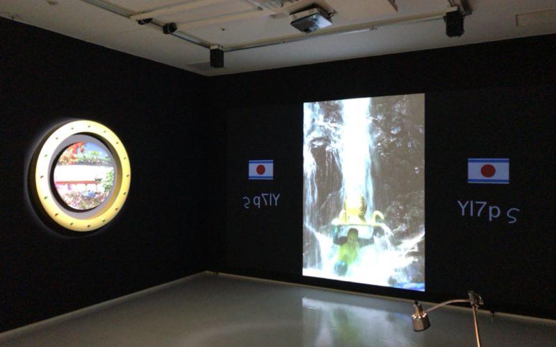 小山登美夫ギャラリーで開催された笹岡由梨子展「command X」の会場内で上映されていたビデオインスタレーション