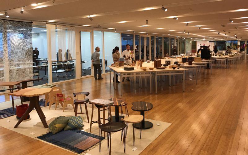 東京ミッドタウン・デザインハブで開催した特別展「日本クラフト展 クラフトNEXT」の会場内