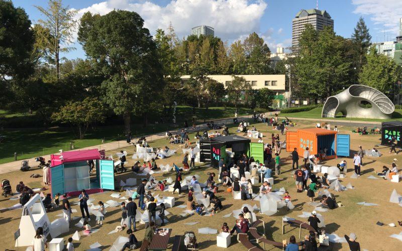 東京ミッドタウン デザインタッチを開催した芝生広場の会場