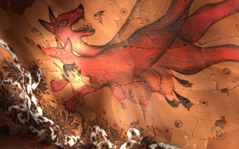 六本木ヒルズの森アーツセンターギャラリーで開催したTHE ドラえもん展 TOKYO 2017に展示していた鴻池朋子さんの作品「しずかちゃんの部屋」
