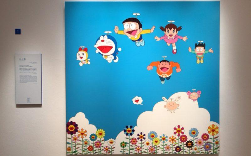 森アーツセンターギャラリーで開催されている「THE ドラえもん展 TOKYO 2017」に展示されている村上隆さんの再展示作品「ぼくと弟とドラえもんとの夏休み」