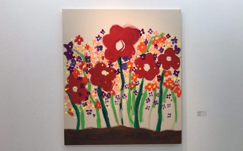 渋谷ヒカリエ8Fの小山登美夫ギャラリーで開催した大宮エリー展「Secret Garden」に展示していたフォーチュンフラワーズ