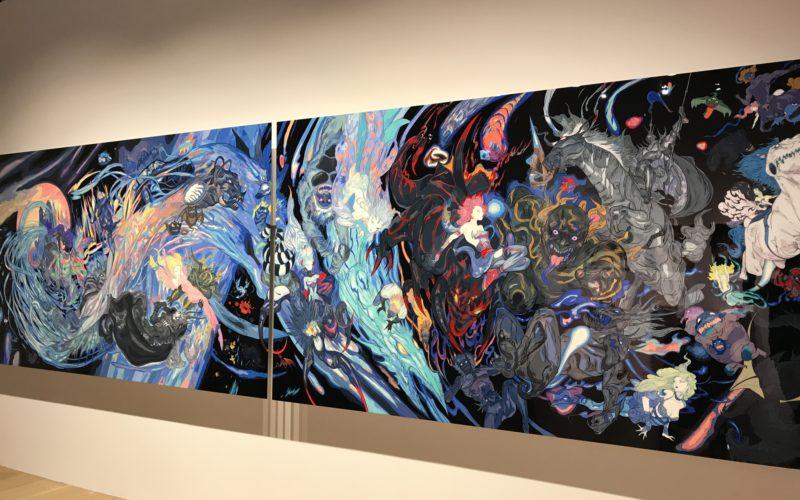 六本木ヒルズの森アーツセンターギャラリーで開催したファイナルファンタジー 別れの物語展に展示していた天野喜孝さんの作品