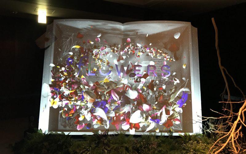 コレド室町で開催されたフラワーズ バイ ネイキッド2018 輪舞曲の会場入口にあるBIG BOOK