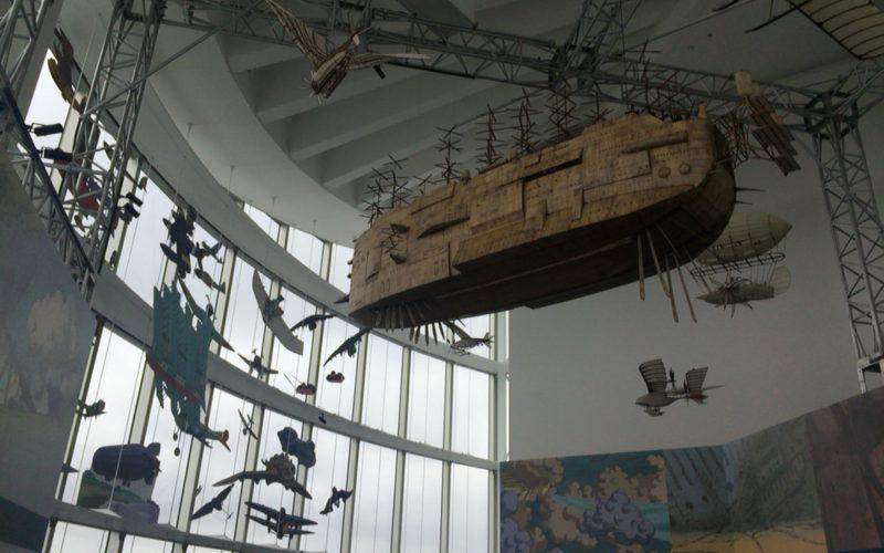 六本木ヒルズの展望台 東京シティビューで開催したジブリの大博覧会内の空とぶ機械達展の会場