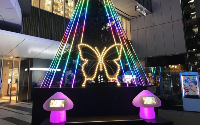 渋谷ヒカリエの1F正面玄関前に設置していた「渋谷ヒカリエクリスマス」のクリスマスツリー