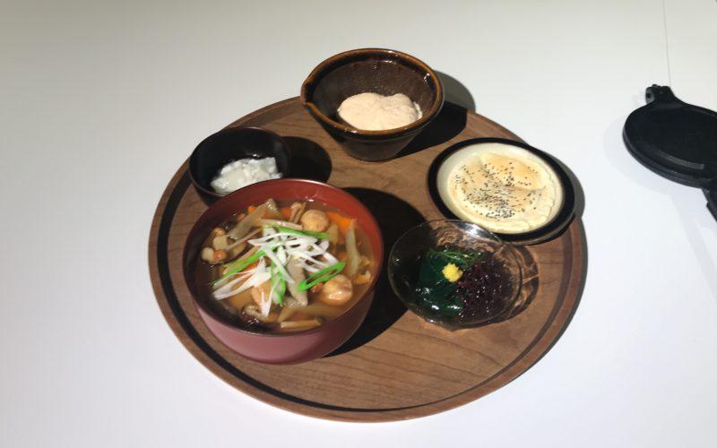 渋谷ヒカリエ8Fのd47 MUSEUMで開催した展覧会「d design travel IWATE EXHIBITION」に展示していた岩手定食のサンプル
