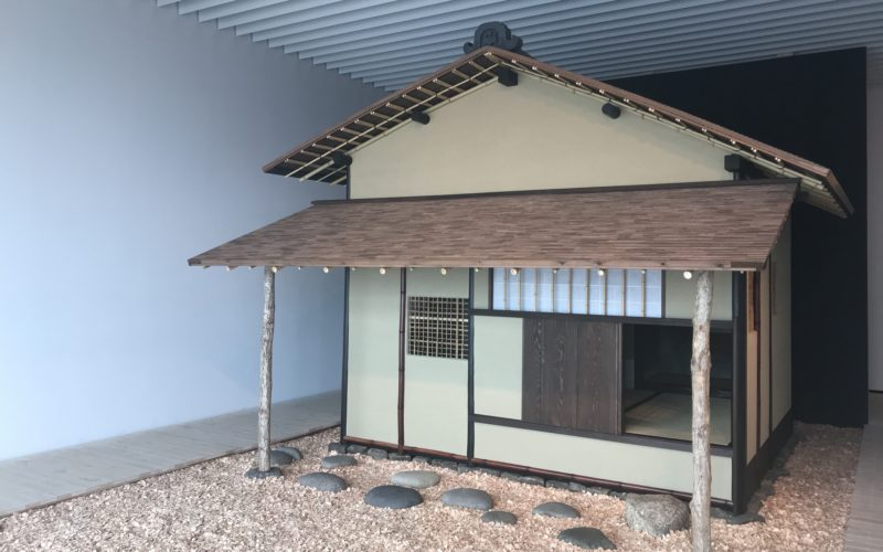 六本木ヒルズの森美術館で開催した建築の日本展に展示していた原寸大の茶室「待庵」