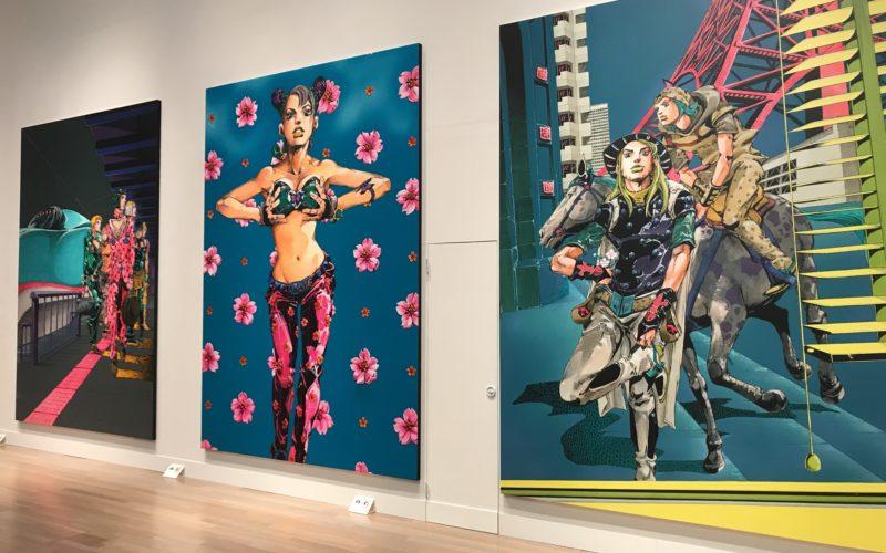 国立新美術館で開催した「荒木飛呂彦原画展 JOJO 冒険の波紋」に展示していた原画