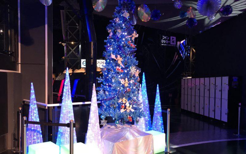 デックス東京ビーチの東京ジョイポリスで開催した「デジタリアルイルミネーション」のツリー