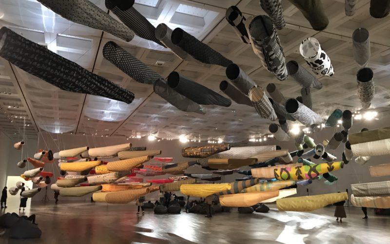 国立新美術館で開催したこいのぼりなう!須藤玲子×アドリアン・ガルデール×齋藤精一によるインスタレーションの会場