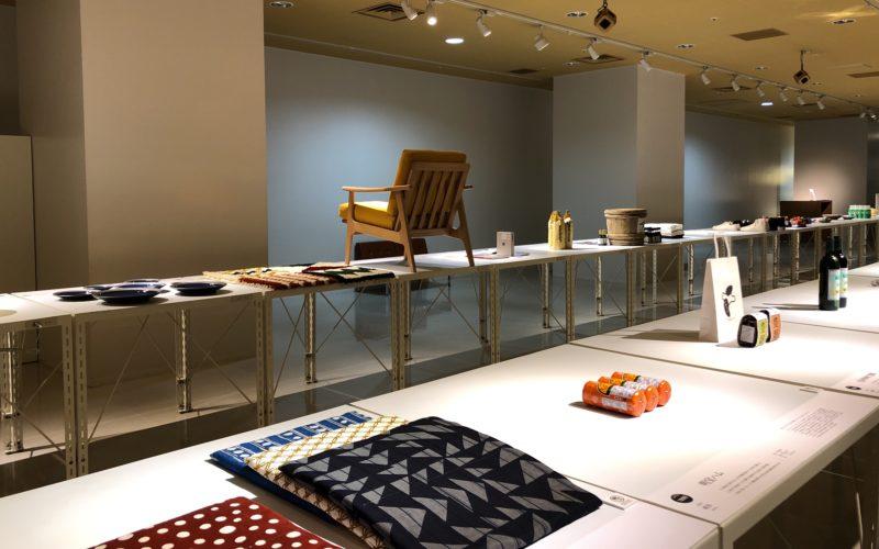 渋谷ヒカリエ8Fのd47 MUSEUMで開催した「LONG LIFE DESIGN 1 47都道府県の健やかなデザイン展」の会場内