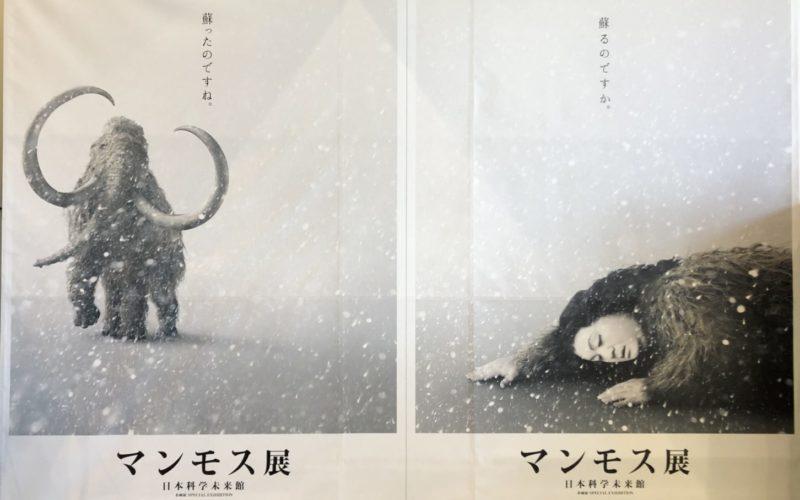 日本化学未来館で開催する「企画展 マンモス展」の巨大ポスター