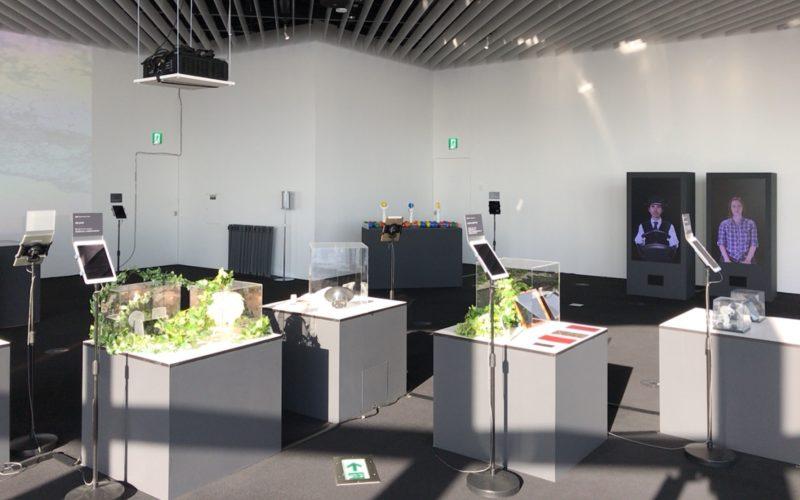 六本木ヒルズの展望台 東京シティビューで開催したメディア アンビション トーキョーの会場内