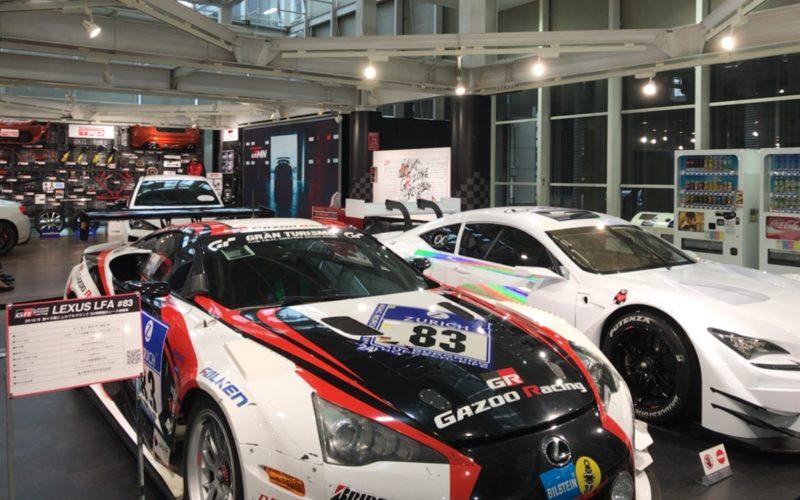 トヨタ シティショウケースのGRゾーンにあるTOYOTA GAZOO Racingに展示しているレーシングカー