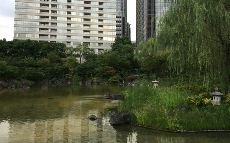 檜町公園内にある日本庭園