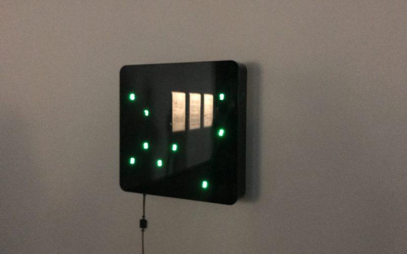 日本科学未来館3Fの常設展示ゾーン 零壱庵に展示している宮島達男さんの作品「Life(Ku-wall)-no.6」
