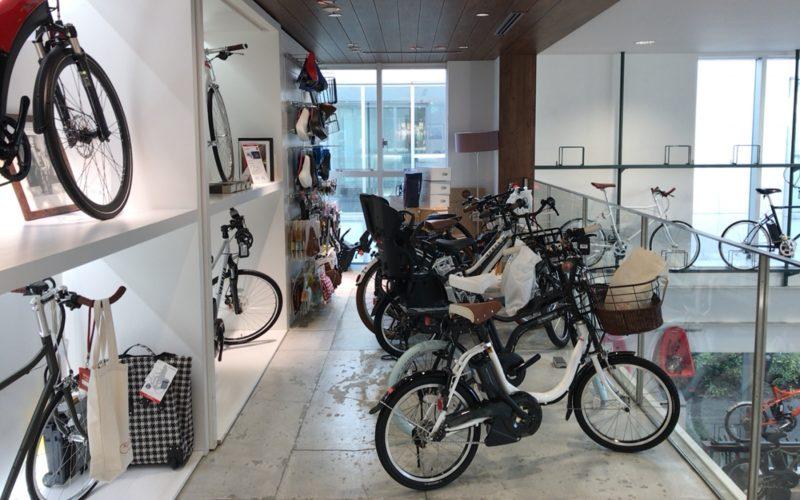 代官山モトベロ2Fに置かれている電動アシスト自転車