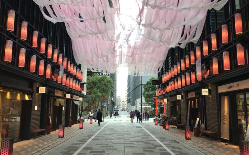 日本橋 桜フェスティバルで仲通りに登場していたNIHONBASHI SAKURA GATE