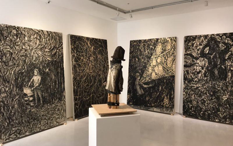 渋谷ヒカリエ8Fの小山登美夫ギャラリーで開催した西太志+矢野洋輔展「居心地の良さの棘」に展示していた西太志さんの作品
