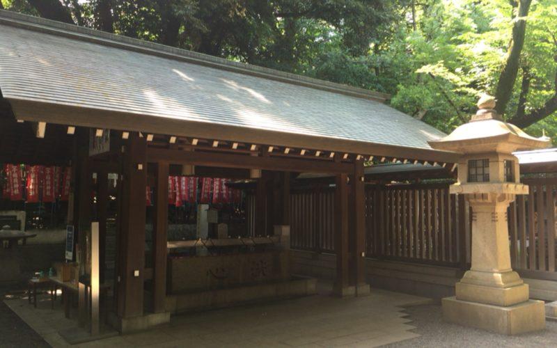乃木神社の手水舎