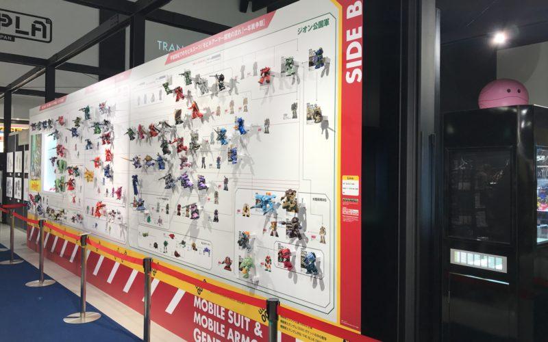 お台場ダイバーシティ7Fのガンダムベース東京で開催した機動戦士ガンダムNTワールドに展示していたモビルスーツ・モビルアーマー開発の流れ