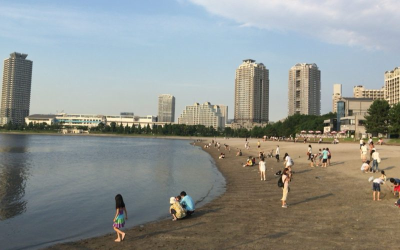 お台場海浜公園の砂浜・おだいばビーチ