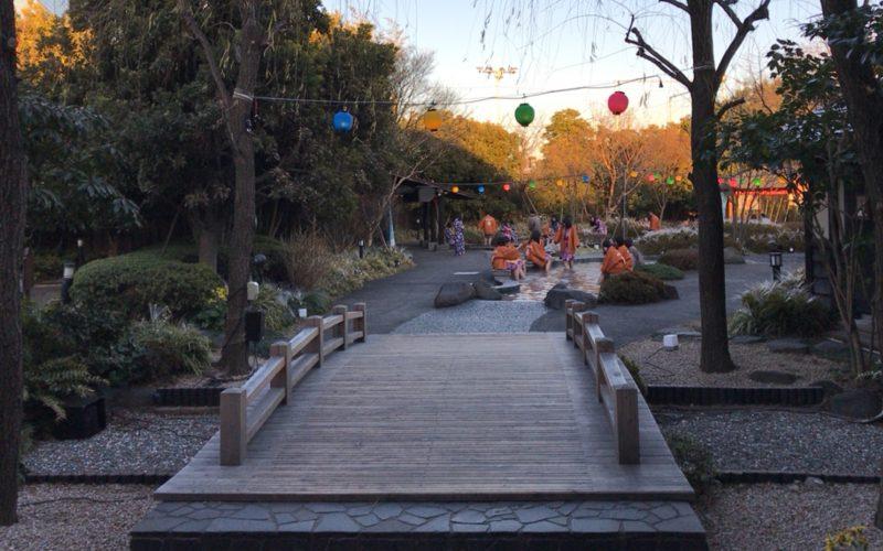 大江戸温泉物語お台場の足湯にある日本橋