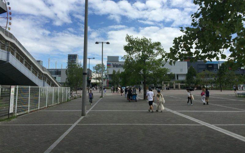 東京テレポート駅から見たお台場パレットタウン