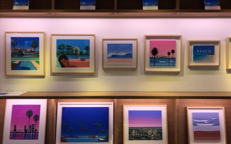 代官山蔦屋書店で開催した「永井博 作品集 Time goes by… 復刊記念原画展」の展示作品