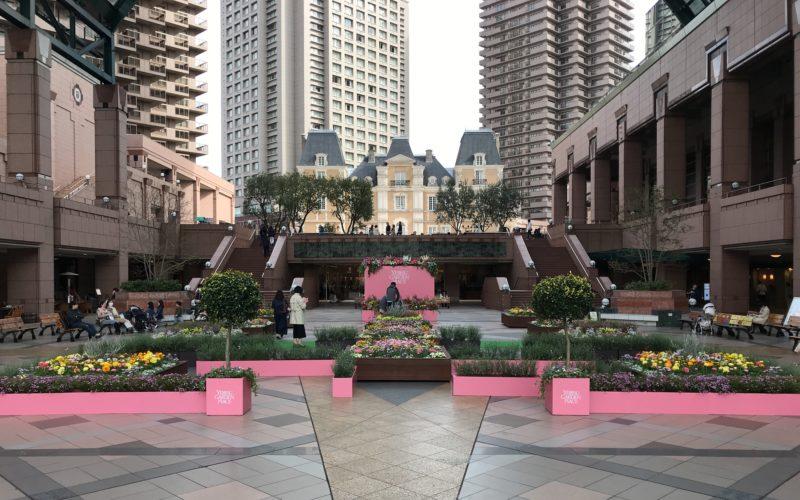 恵比寿ガーデンプレイスのセンター広場で開催した「プレイ スプリング!」の会場