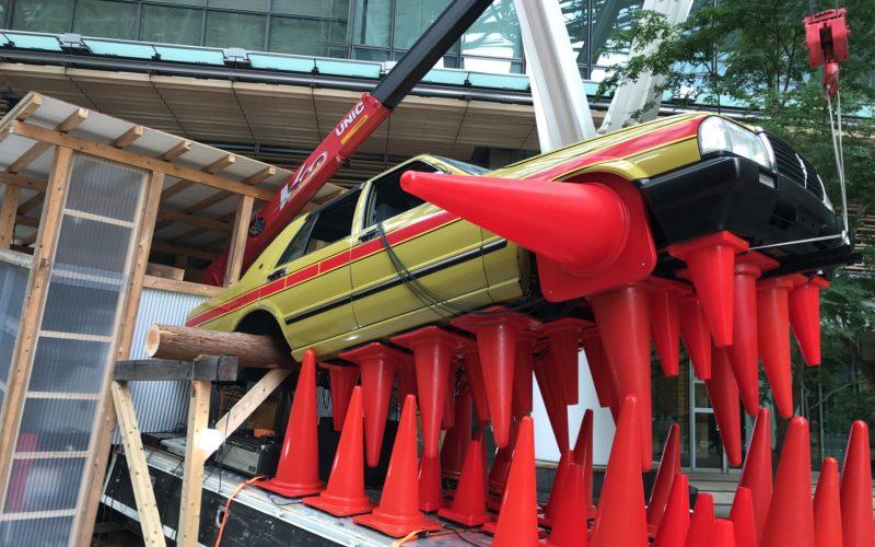 六本木アートナイトで東京ミッドタウンに展示していた宇治野宗輝さんによる作品「ドラゴンヘッド・ハウス」