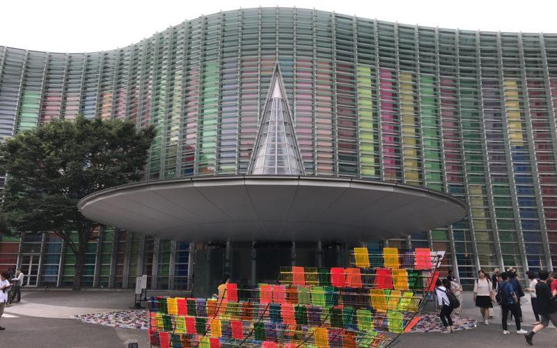 六本木アートナイトで国立新美術館に展示していた鬼頭健吾さんによる作品