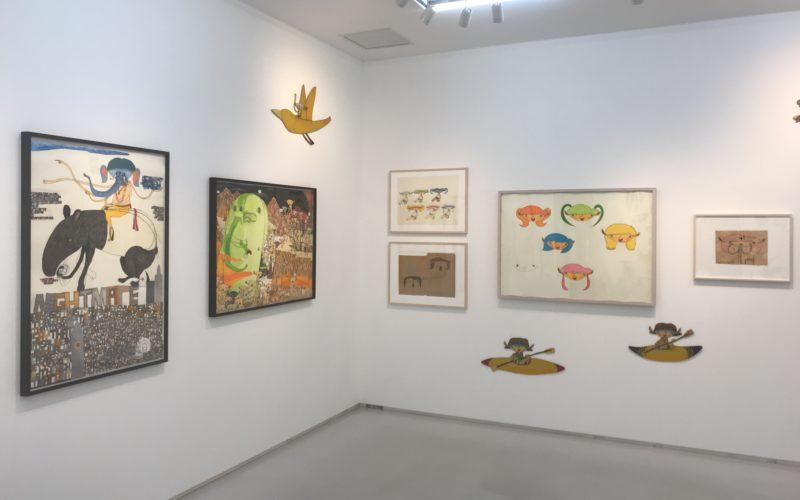 渋谷ヒカリエ8Fの小山登美夫ギャラリーで開催した「三宅信太郎 個人史 2000-2017」の展示作品