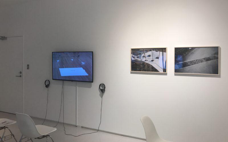 渋谷ヒカリエ8Fの小山登美夫ギャラリーで開催した「菅木志雄 写真と映像」の会場内