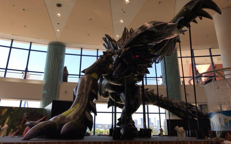 タツノコ vs.カプコン お台場タッグイベントの会場内に設置していた雷竜ライゼクスの巨大フィギュア
