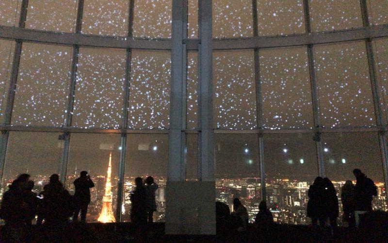 六本木ヒルズの展望台 東京シティビューから見える夜景