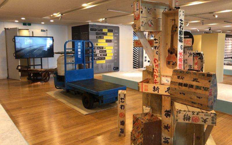 東京ミッドタウン・デザインハブで開催した東京デザインテンの会場内に展示していた新巻鮭の箱
