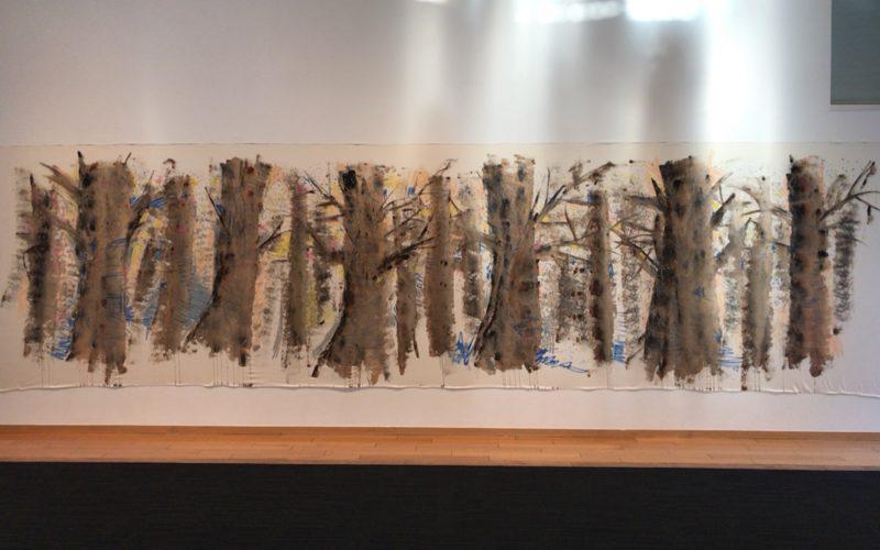 代官山ヒルサイドテラスF棟で開催した大宮エリー 個展 tree,tree,treeの展示作品「十和田の冬」