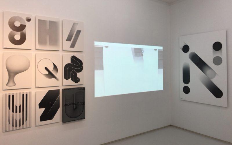 渋谷ヒカリエ8FのCUBE 1,2,3で開催したUNCONTROLLED TYPES by Plotter Drawingの会場内
