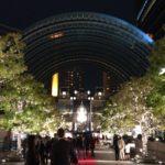 「恵比寿ガーデンプレイス ウィンターイルミネーション」でセンター広場に展示していたバカラのシャンデリア