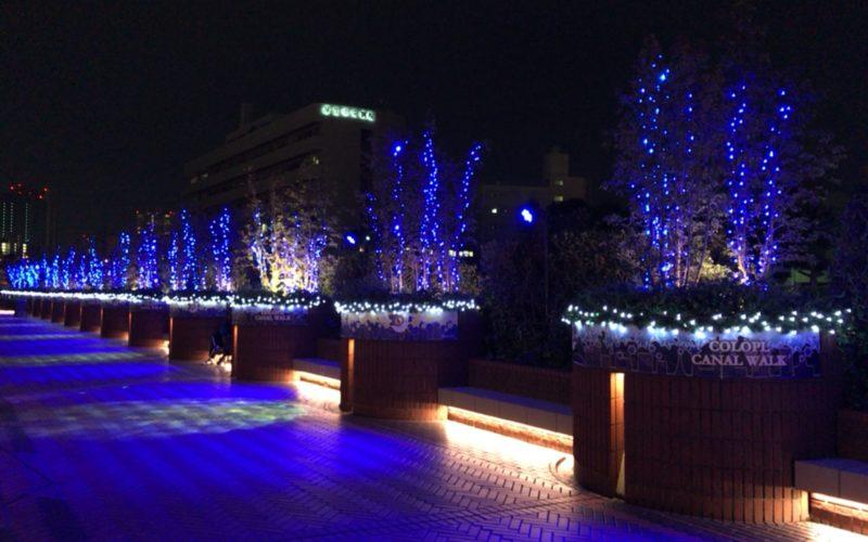 恵比寿ガーデンプレイスのグラススクエア横の通路で開催されている「コロプラキャナルウォーク」