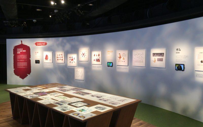 アングリーバード展の展示コーナー